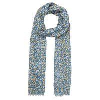 Seasalt Exclusive Rock Flower Sienna Cotton Scarf Navy Multi