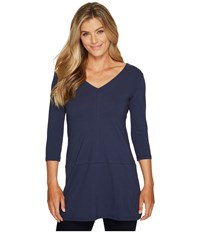 Fig Clothing Ver Tunic Harbour Women's Long Sleeve Pullover Blue