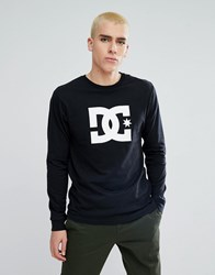 Dc Shoes Long Sleeve T Shirt With Star Logo In Black Black