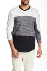 Shades Of Grey Long Sleeve Colorblock Tee White