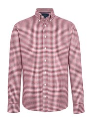 Paul Costelloe Portman Gingham Check Cotton Shirt Wine