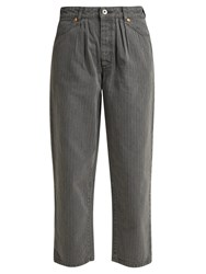 Chimala Straight Leg Herringbone Jeans Grey