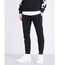 Criminal Damage Paulo Cotton Jersey Jogging Bottoms Black White