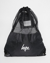 Hype Drawstring Backpack With Mesh Bk1black1