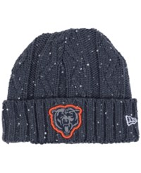 New Era Women's Cincinnati Bengals Frosted Cable Knit Hat Darkgray