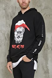 Forever 21 Get At Me Graphic Hoodie Black