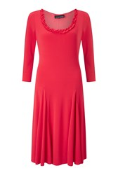 James Lakeland Crepe Mid Length Dress Orange