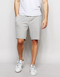 New Look Jersey Shorts In Gray Gray