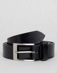 New Look Leather Belt In Black Black