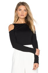 Susana Monaco Avery Long Sleeve Top Black