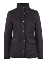 Joules Quilted Jacket Black