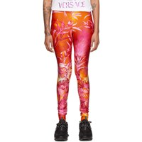 Versace Orange Jungle Leggings