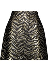 Roberto Cavalli Metallic Brocade Mini Skirt Gold