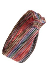 Tasha Stripe Knot Head Wrap Red Multi