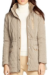 Women's Lauren Ralph Lauren Hooded Quilted Drawstring Waist Jacket