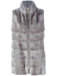 Liska Zipped Vest Grey