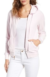 Juicy Couture Women's Robertson Velour Hoodie Peek A Boo