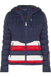 Perfect Moment Vale Hooded Quilted Down Ski Jacket Midnight Blue