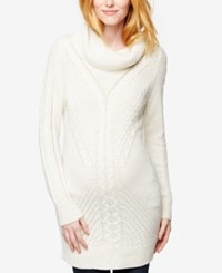 A Pea In The Pod Maternity Cowl Neck Sweater White