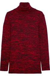 Miu Miu Wool Turtleneck Sweater Red Burgundy