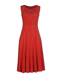 Paola Frani Dresses Knee Length Dresses Women Red