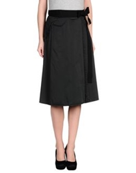 Monocrom Knee Length Skirts Black