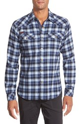 Men's Gramicci 'Off Trail' Regular Fit Flannel Sport Shirt Navy