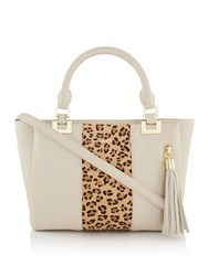 Biba Small Multi Compartment Tote Bone