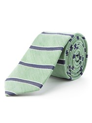 Racing Green Melia Horizontal Stripe Tie Green