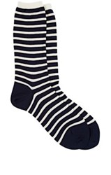 Antipast Striped Long Trouser Socks Blue