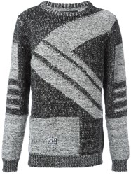 Ktz Diagonal Knit Jumper Black