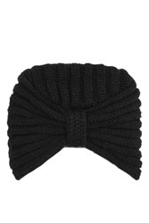 Topshop Knitted Turban Black