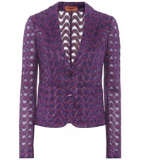 Missoni Striped Blazer Purple
