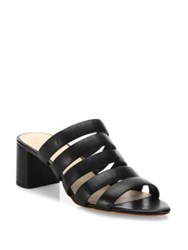 Loeffler Randall Finley Sheep Leather Strappy Mule Black