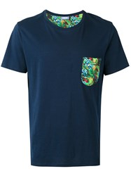 Fefe Chest Pocket T Shirt Blue