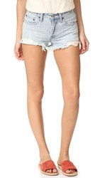 Free People Daisy Chain Lace Shorts Light Denim