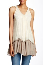 Ryu Sleeveless Lace Blouse White