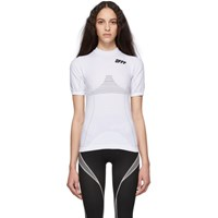 Off White And Black Athletic T Shirt
