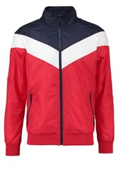 Urban Classics Tracksuit Top Red Navy White