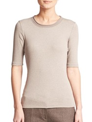 Peserico Rollneck Tee Taupe
