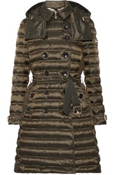 Burberry Quilted Shell Down Coat Army Green