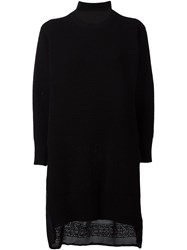 Sacai Calligraphy Embroidered Jumper Dress Black