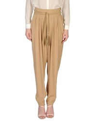 Elisabetta Franchi Trousers Casual Trousers Women Camel