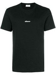 Ami Alexandre Mattiussi T Shirt With Silence Embroidery Black