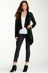 Romeo And Juliet Couture Print Open Front Wrap Cardigan Multi