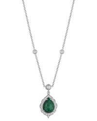 Penny Preville Emerald And Diamond Pendant Necklace