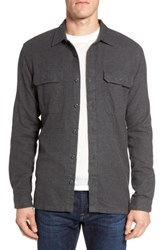 Patagonia 'Fjord' Regular Fit Organic Cotton Flannel Shirt New Forge Grey