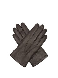 Dents Badminton Leather Gloves Black