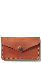 Filson 'S Snap Leather Wallet Brown Tan Leather