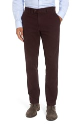 Brax Men's Big And Tall Texture Stretch Cotton Trousers Vineyard